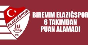 Birevim Elazığspor, 6 Takımdan Puan Alamadı