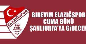 Birevim Elazığspor, Cuma Günü Şanlıurfa'ya Gidecek