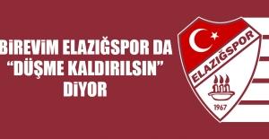 """Birevim Elazığspor da """"Düşme Kaldırılsın"""" Diyor"""