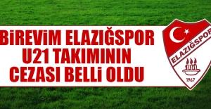 Birevim Elazığspor U21 Takımının Cezası Belli Oldu