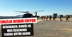 Diyarbakır, Bingöl ve Muş Üçgeninde Teröre Büyük Darbe