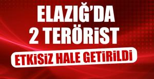 Elazığ'da 2 Terörist Etkisiz Hale Getirildi