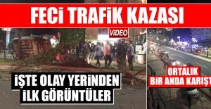 Elazığ'da Meydana Gelen Kazada Ortalık Bir Anda Karıştı!