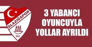 Elazığspor'da 3 Yabancı Oyuncuyla Yollar Ayrıldı
