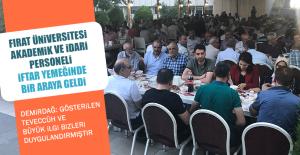 Fırat Üniversitesi Akademik ve İdari Personeli İftar Yemeğinde Bir Araya Geldi