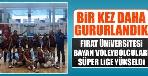 Fırat Üniversitesi Bayan Voleybolcuları Süper Lige Yükseldi