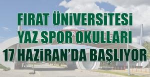 Fırat Üniversitesi Yaz Spor Okulları 17 Haziran'da Başlıyor