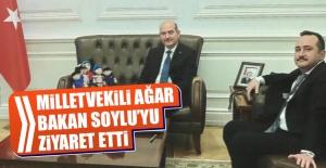 Milletvekili Ağar, Bakan Soylu'yu Ziyaret Etti