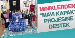 Miniklerden, Mavi Kapak Projesine Destek