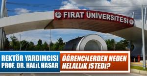 Prof. Dr. Halil Hasar, Öğrencilerden Helallik İstedi