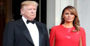 Donoald Trump'ın eşi Melania Trump göbeğiyle olay oldu