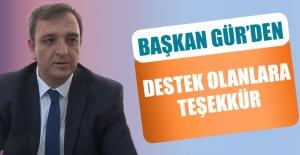 EASKF Başkanı Gür'den Destek Olanlara Teşekkür