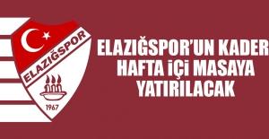 Elazığspor'un Kaderi; Hafta İçi Masaya Yatırılacak