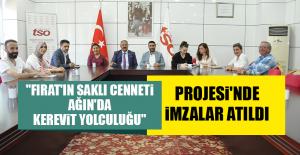"""""""Fırat'ın Saklı Cenneti Ağın'da Kerevit Yolculuğu"""" Projesi'nde İmzalar Atıldı"""