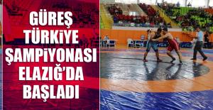 Güreş Türkiye Şampiyonası Elazığ'da Başladı