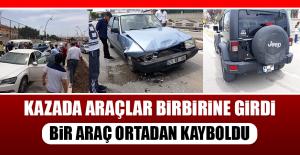 Kazada Araçlar Birbirine Girdi