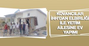 Kovancılar İHH'dan Elbirliği ile Yetim Ailesine Ev Yapımı