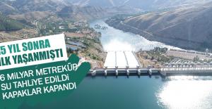 6 Milyar Metreküp Su Tahliye Edildi Kapaklar Kapandı