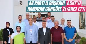 AK Parti İl Başkanı Ramazan Gürgöze'den ASKF'ye ziyaret…