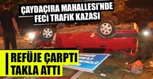 Arabadaki 3 Kişi Kazadan…