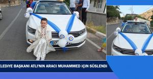 Belediye Başkanı Atlı'nın Aracı Muhammed İçin Süslendi