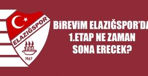 Birevim Elazığspor'da 1.Etap Ne Zaman Sona Erecek?