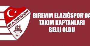 Birevim Elazığspor'da Takım Kaptanları Belli Oldu