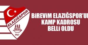 Birevim Elazığspor'un 2. Etap Kamp Kadrosu Belli Oldu