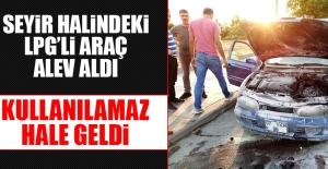 Diyarbakır-Elazığ Karayolu'nda Seyir Halindeki Araç Alev Aldı