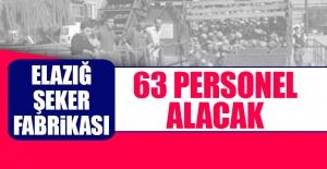 Elazığ Şeker Fabrikası 63 Personel Alacak