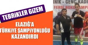 Elazığlı Gizem Özer Türkiye Şampiyonu Oldu
