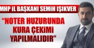 İl Başkanı Işıkver'den İl Özel İdaresi'ndeki Personel Alımı İle İlgili Açıklama