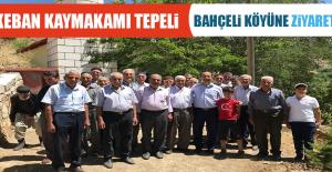 Keban Kaymakamı Tepeli'den Bahçeli Köyüne Ziyaret