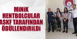 Minik Hentbolcular ASKF Tarafından Ödüllendirildi