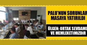 Palu'nun Sorunları Masaya Yatırıldı