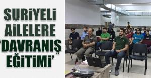 Suriyeli Ailelere 'Davranış Eğitimi'