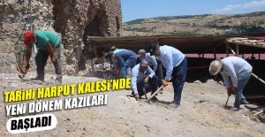 Tarihi Harput Kalesi'nde Yeni Dönem Kazıları Başladı