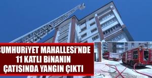 11 Katlı Binanın Çatısında Yangın Çıktı