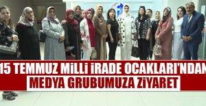 15 Temmuz Yayınlarından Dolayı Kanal Fırat'a Tebrik Ziyareti