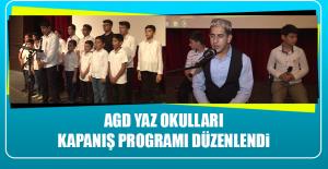 AGD Yaz Okulları Kapanış Programı Düzenlendi