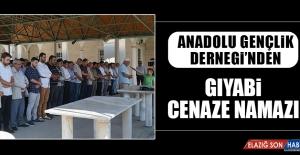 Anadolu Gençlik Dernegi'nden Giyabi Cenaze Namazı
