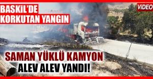 Baskil'de Korkutan Yangın! Alev Alev Yandı