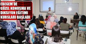 EBEGEM'de Güzel Konuşma ve Diksiyon Eğitimi Kursları Başladı