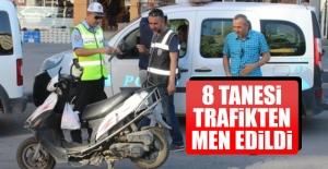 Elazığ'da 8 Motosiklet Trafikten Men Edildi