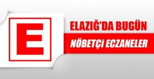 Elazığ'da 18 Ağustos'ta Nöbetçi Eczaneler