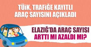 Elazığ'da araç sayısı arttı mı azaldı mı?