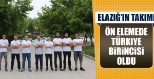 Elazığ'ın Takımı Ön Elemede Türkiye Birincisi Oldu