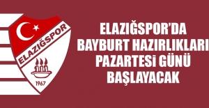 Elazığspor'da Bayburt Hazırlıkları Pazartesi Günü Başlayacak