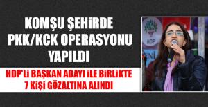 HDP'li Belediye Başkan Adayı İle Birlikte 7 Kişi Gözaltına Alındı