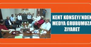 Kent Konseyi'nden Medya Grubumuza Ziyaret